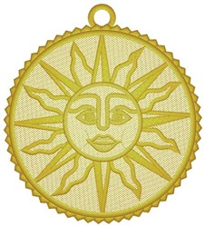 Sun Ornament embroidery design
