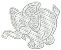 FSL Elephant embroidery design