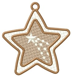 Shooting Star Ornament embroidery design