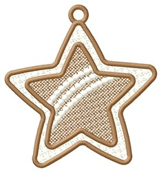 Rainbow Star Ornament embroidery design