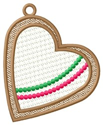 Framed Heart Ornament embroidery design