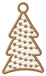Decorated Tree Ornament embroidery design