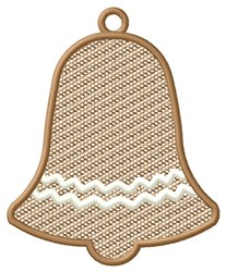 Bell Ornament embroidery design