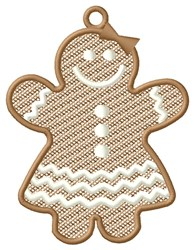 Gingerbread Girl Ornament embroidery design