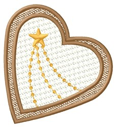 Star & Heart embroidery design