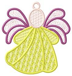 Yellow Angel Ornament embroidery design