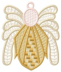 Golden Angel Ornament embroidery design