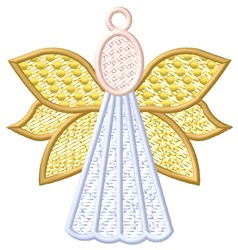 Colorful Angel Ornament embroidery design