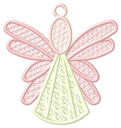 Pink Angel Ornament embroidery design