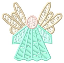 Green Angel embroidery design