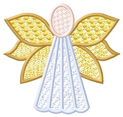 Yellow Angel embroidery design