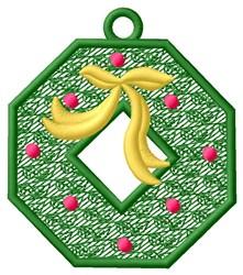 Christmas Wreath Ornament embroidery design