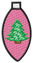 Christmas Tree Light embroidery design