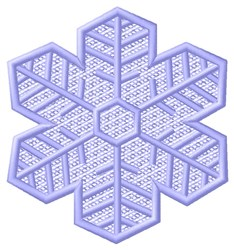 Purple Snowflake embroidery design