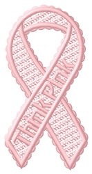 FSL Think Pink Ribbon embroidery design
