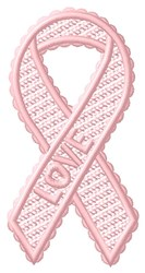 FSL Love Ribbon embroidery design