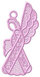 FSL Autism Angel Ornament embroidery design
