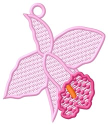 FSL Orchid Ornament embroidery design