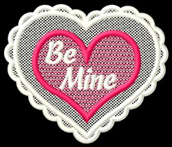 FSL Be Mine embroidery design