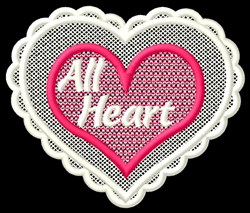 FSL All Heart embroidery design