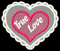 FSL True Love embroidery design