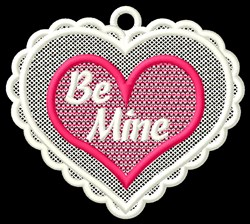 FSL Be Mine Ornament embroidery design