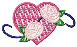 FSL Heart with Roses embroidery design