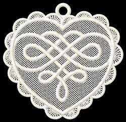 FSL Heart Knot Ornament embroidery design