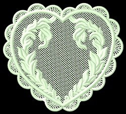 FSL Heart Wreath embroidery design