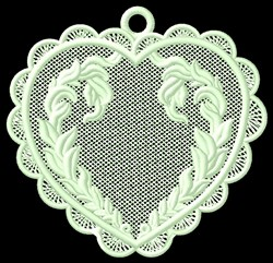 FSL Heart Wreath Ornament embroidery design