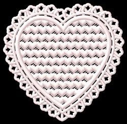 FSL Fancy Heart embroidery design