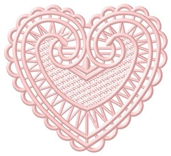 FSL Heart embroidery design