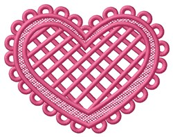 FSL Cross Hatch Heart embroidery design
