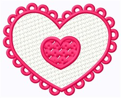 FSL Double Heart embroidery design