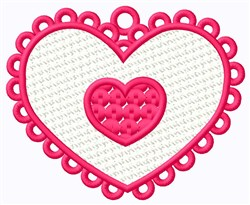 FSL Double Heart Ornament embroidery design