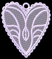 FSL Heart Ornament embroidery design