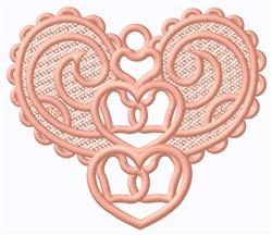 FSL Swirl Heart Ornament embroidery design