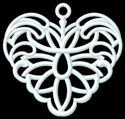 FSL Fancy Heart Ornament embroidery design