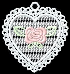FSL Rose Heart Ornament embroidery design
