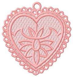 FSL Heart Flower Ornament embroidery design