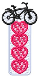 Bike with Hearts embroidery design