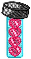 Hockey Hearts embroidery design