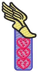 Winged Foot Hearts embroidery design