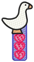 Duck Hearts embroidery design