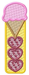 Ice Cream Hearts embroidery design