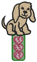 Puppy Hearts embroidery design