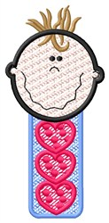 Baby Boy Hearts embroidery design