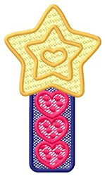 Star Hearts embroidery design