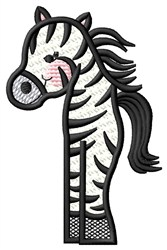 Partial Zebra embroidery design