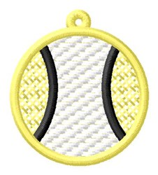 Tennis Ball Ornament embroidery design